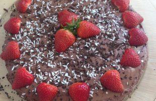 Lowcarb Chokolademousse-kage