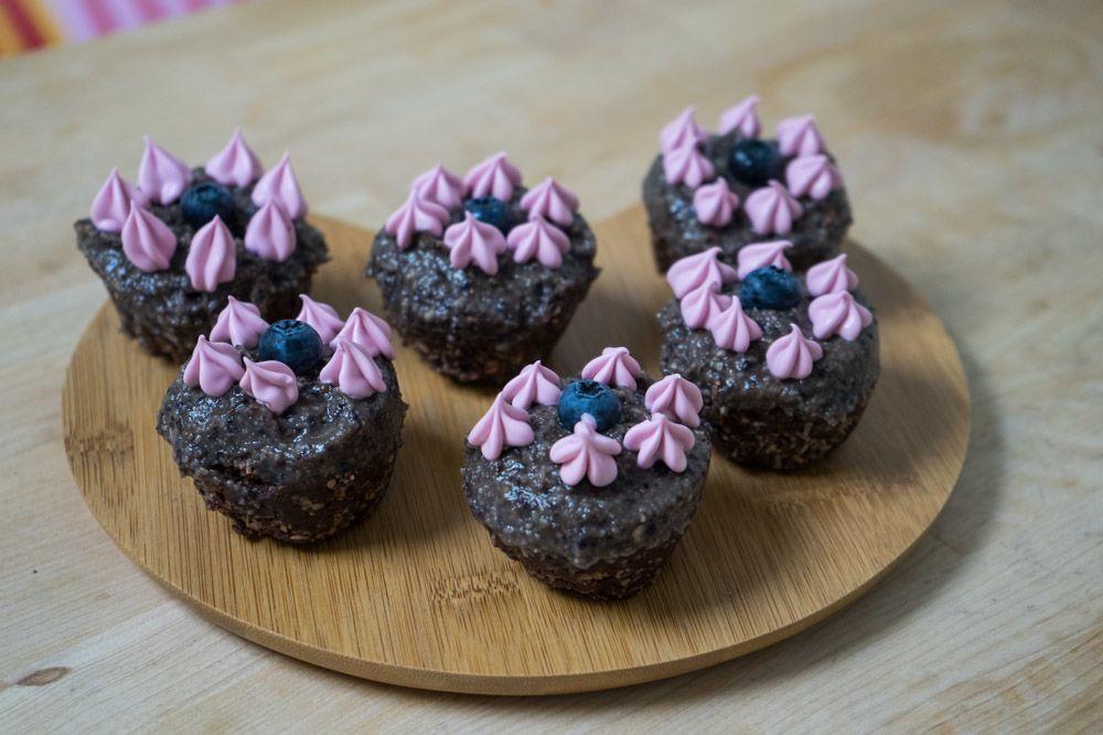 Rå Blåbær-muffins