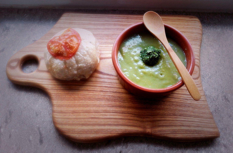 Grøn Suppe Med Pesto