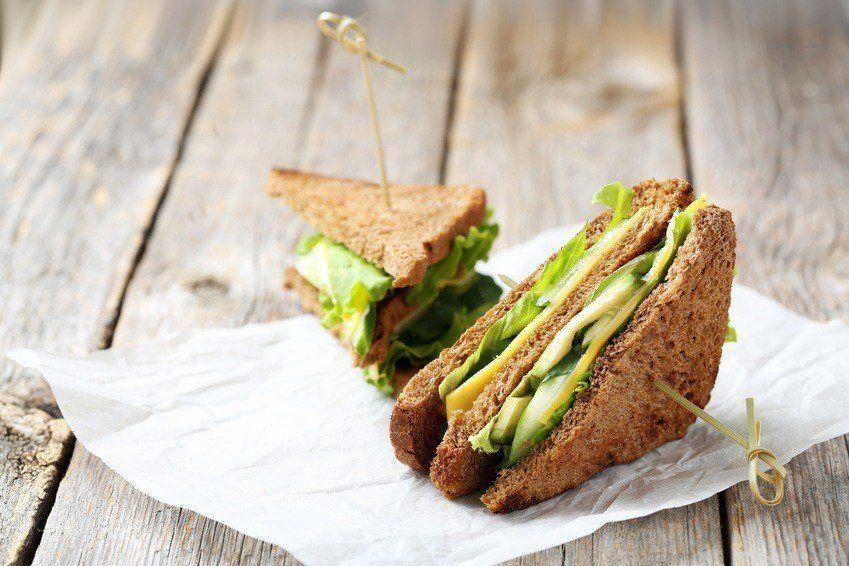 Avocado-sandwich Med Grillet Ost