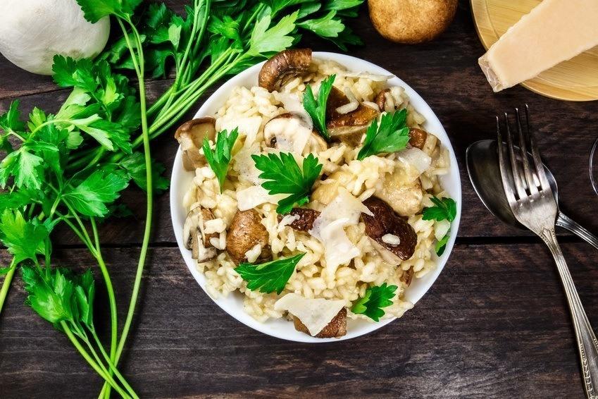 Svampe Risotto – Vegetarisk