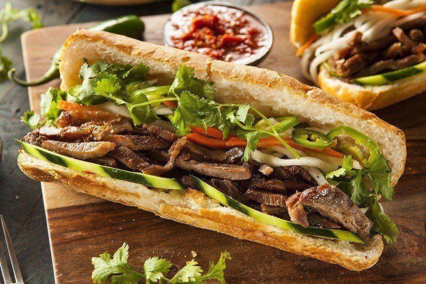 Vietnamesisk Banh Mí Sandwich
