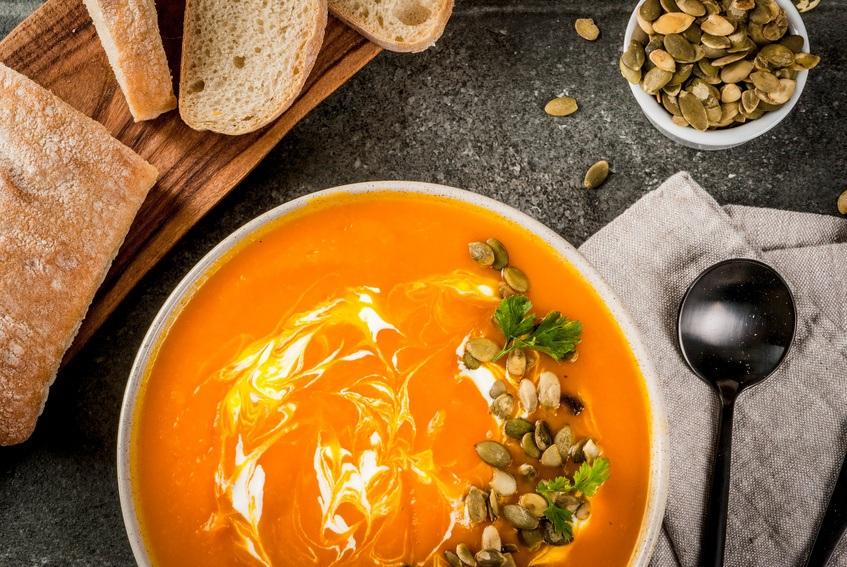 Spicy Græskar Suppe