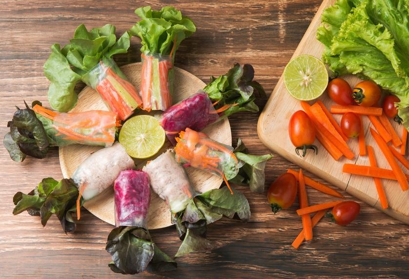 Friske Forårsruller  – Vegetarisk Og Nemt