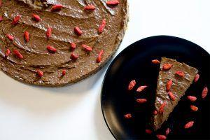 Raw Chokolade & Gojibær Kage