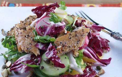 Salat Med Røget ørred & Sennepsdressing