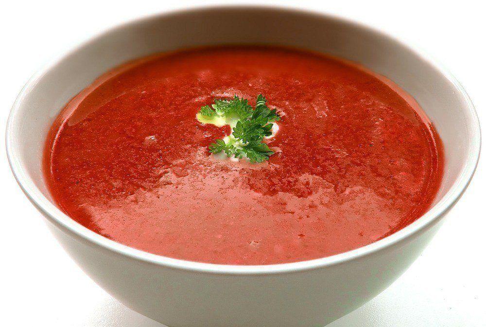 Tomatsuppe Med Grøntsager