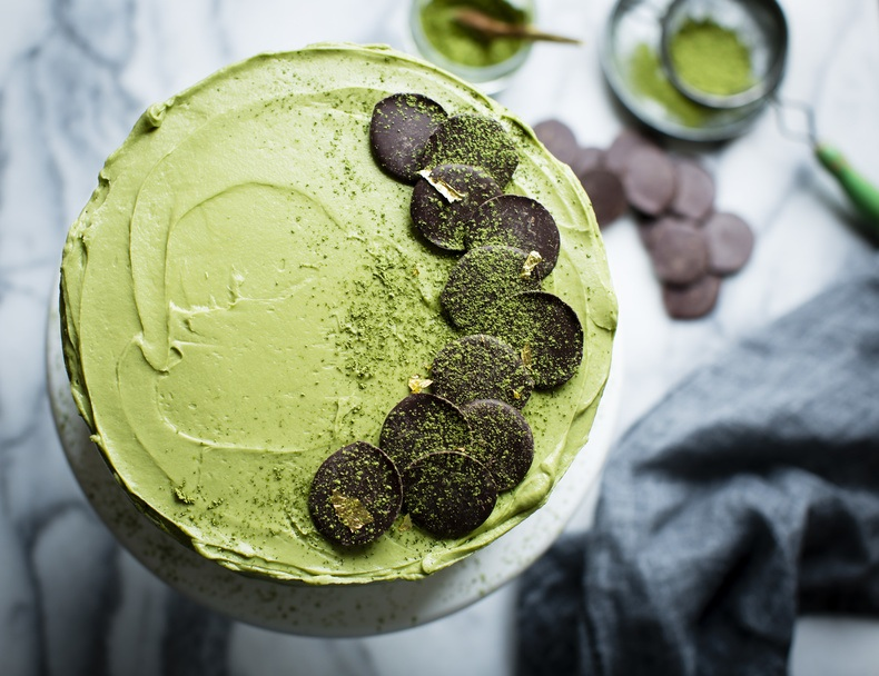 Raw Matcha Brownie