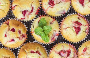 Sundere Jordbær Muffins