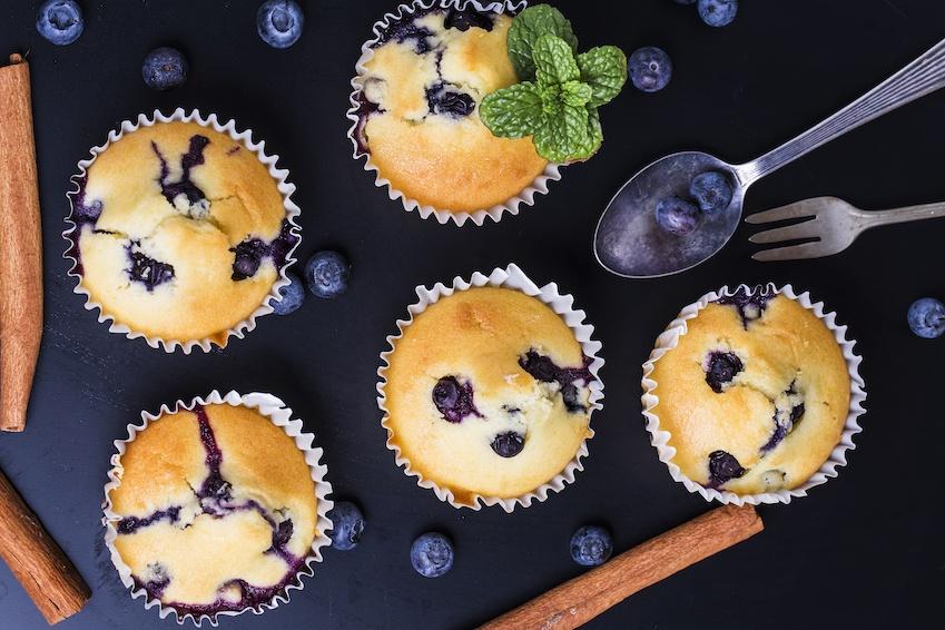 Sukkerfrie Blåbær Muffins