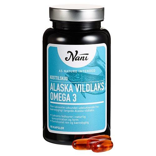 Image of Nani Food State Omega 3 Alaska Vildlaks (90 kapsler)