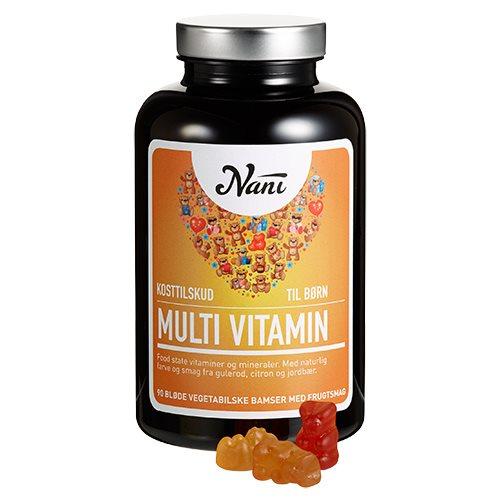 Image of Nani Food State Multivitamin til børn (90 stk)