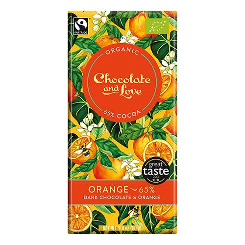 Image of Chocolate and Love Chokolade Orange 65% Ø (80g)