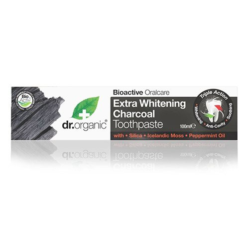 Image of Dr. Organic Tandpasta Extra Whitening Charcoal (100 ml)