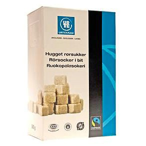 Urtekram Rørsukker Hugget Max Havelaar Ø