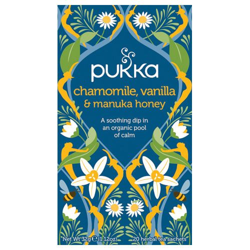 Image of Pukka Chamomile, Vanilla & Manuka Honey Te Ø (20 breve)