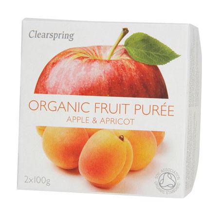 Image of Clearspring Organic Frugtpuré Æble & Aprikos Ø (200 gr)