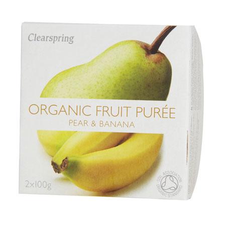 Image of Clearspring Organic Frugtpuré Pære & Banan Ø (200 gr)