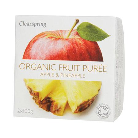 Image of Clearspring Organic Frugtpuré Æble & Ananas Ø (200 gr)