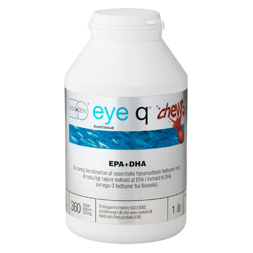 Image of Eye Q Chews Fiskeolie m. Jordbærsmag (360 tyggekapsler)