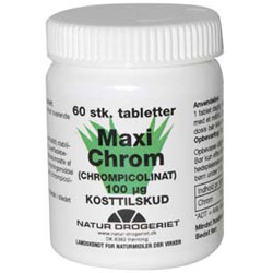 Image of Natur Drogeriet Maxi Chrom 100 ug (60 tabletter)