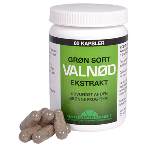 Natur Drogeriet Grøn Sort Valnød Ekstrakt (60 kapsler)