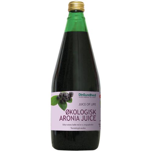 Økologisk Aronia saft med sukker (700 ml)