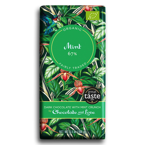 Image of Chocolate and Love Mint - Dark Chocolate with Mint Crunch 67 % Ø (100 gr)