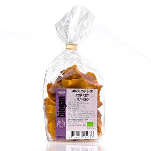 Image of Biogan Tørret Mango Ø (125 gr)