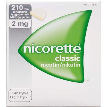 Image of Nicorette Classic Tyggegummi 2MG (210 stk.)
