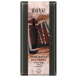 Vivani Mørk Chokolade 85% Ø