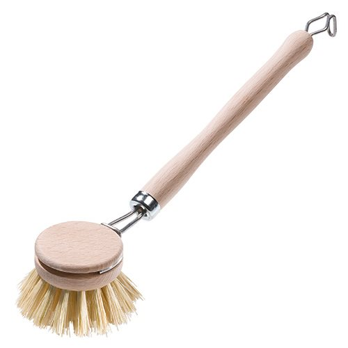 Opvaskebørste m. udskiftelig træbørste