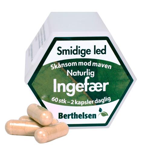 Image of Berthelsen Naturlig Ingefær (60 kapsler)