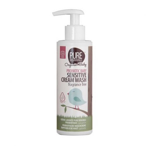 Image of Pure Beginnings Baby sensitive cream wash fragrance free - 200 ml.