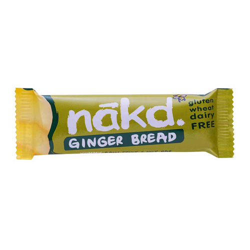Image of Näk'D Rå Frugt- & Nøddebar Ginger Bread (35 gr)