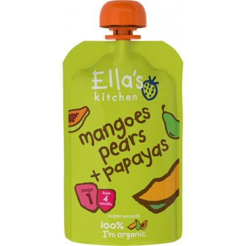 Image of Ellas Kitchen Babymos mango, pære, & papaya 4 mdr Ø