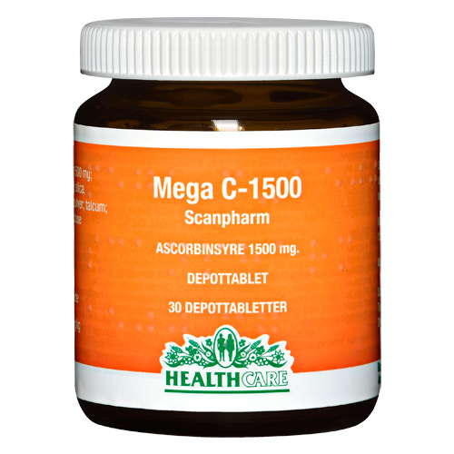 Image of Health Care Mega C 1500 mg (30 tabletter)