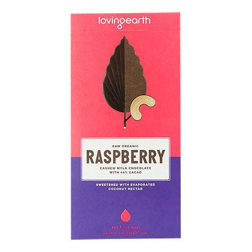 Loving Earth, Chokolade Raspberry m. kakao & cashew Ø (80 g.)