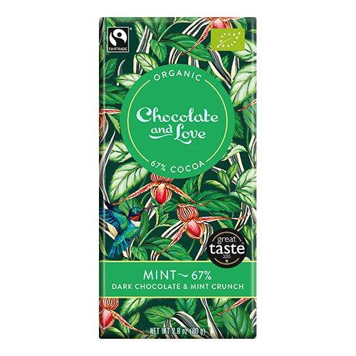 Image of Chocolate and Love Chokolade Mint 67% Ø (80g)