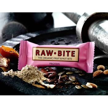 Image of Rawbite Protein - Laktose- og glutenfri frugt- og nøddebar Ø (50 gr)