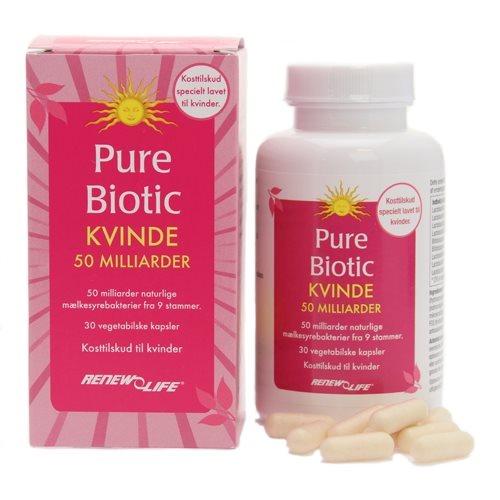 Image of Pure Biotic Kvinde 50 milliarder mælkesyrebakterier Renew Life