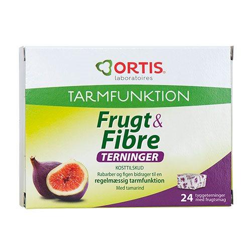 Image of Ortis Frugt & Fibre tyggeterning (24 stk.)