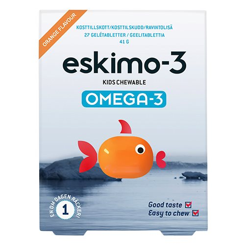 Image of Eskimo-3 Kids Chew Gele Tyggetablet (27 tab)