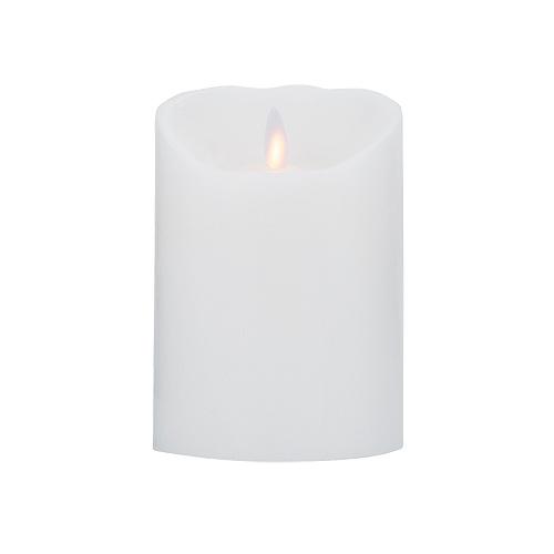 Image of Sompex LED 100 % Stearin Levelys (Hvid)