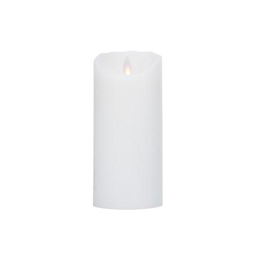 Image of Levelys LED Stearinlys Hvid frostet (8 x 18 cm)
