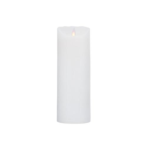 Image of LeveLys LED Stearinlys Hvid frostet (8 x 23 cm)