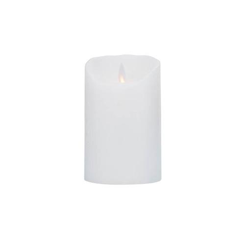 Image of Levelys LED Stearinlys Hvid frostet (8 x 12,5 cm)