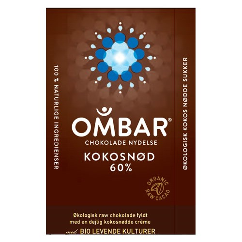 Image of Bar Kokosnød 60 % Ombar Ø (35 gr)