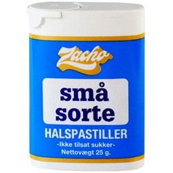Image of Små sorte halspastiller (Zacho) 25 gr.