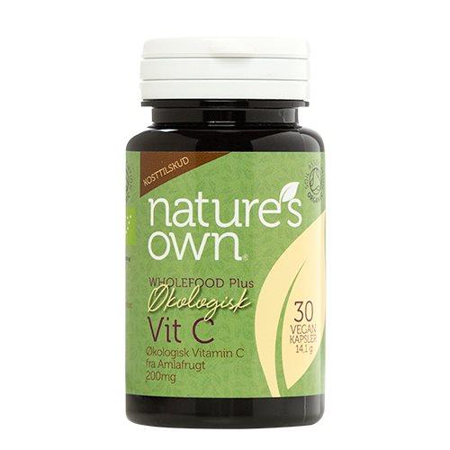 Billede af Natures Own Vitamin C fra Amlafrugt Ø (30 kap)